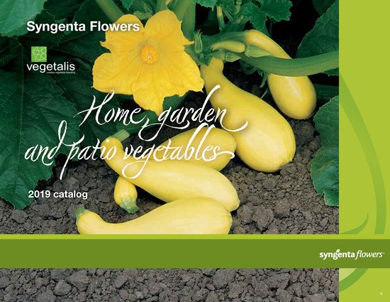 Home Garden Vegetables and Vegetalis Catalog 2019