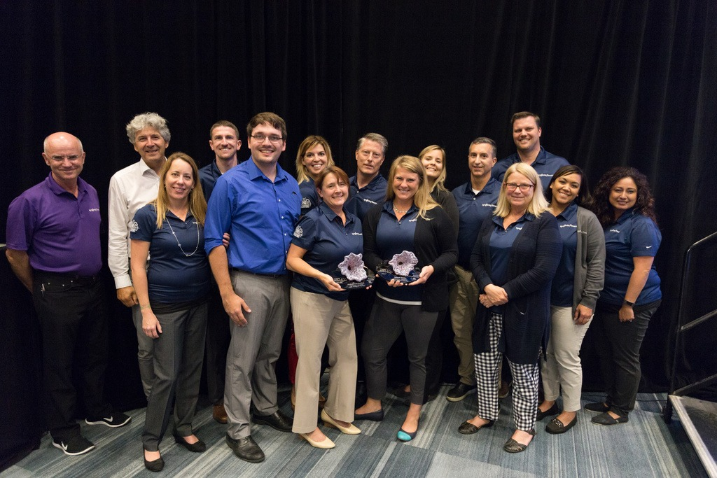 Members of the Syngenta Flowers North America and Global team accepted the two awards for Sunfinity on July 17, 2017