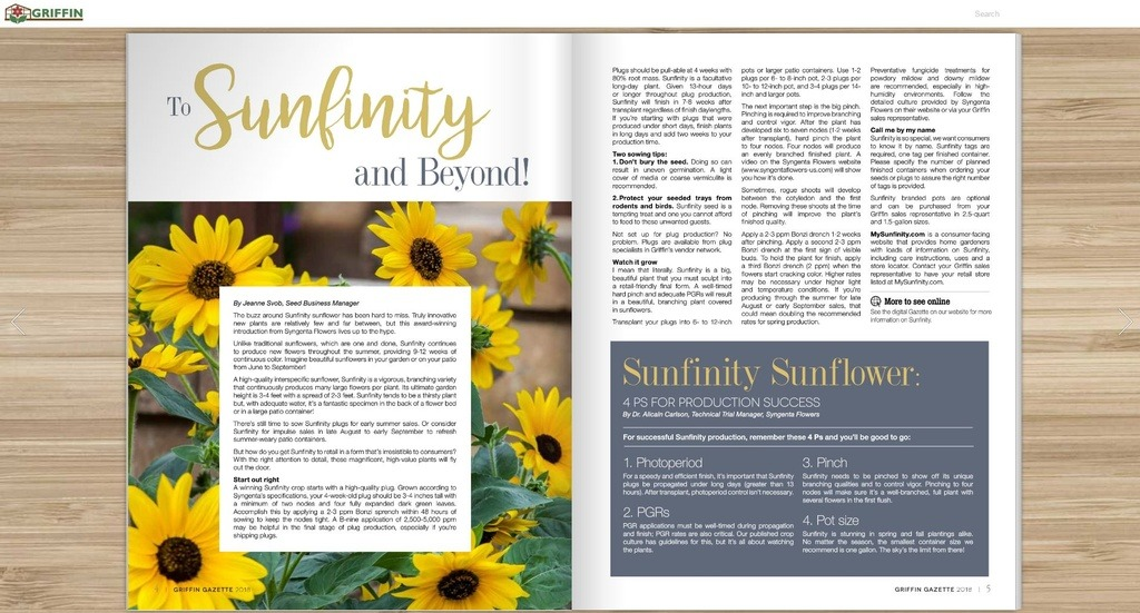 To Sunfinity and Beyond! From the Griffin Gazette