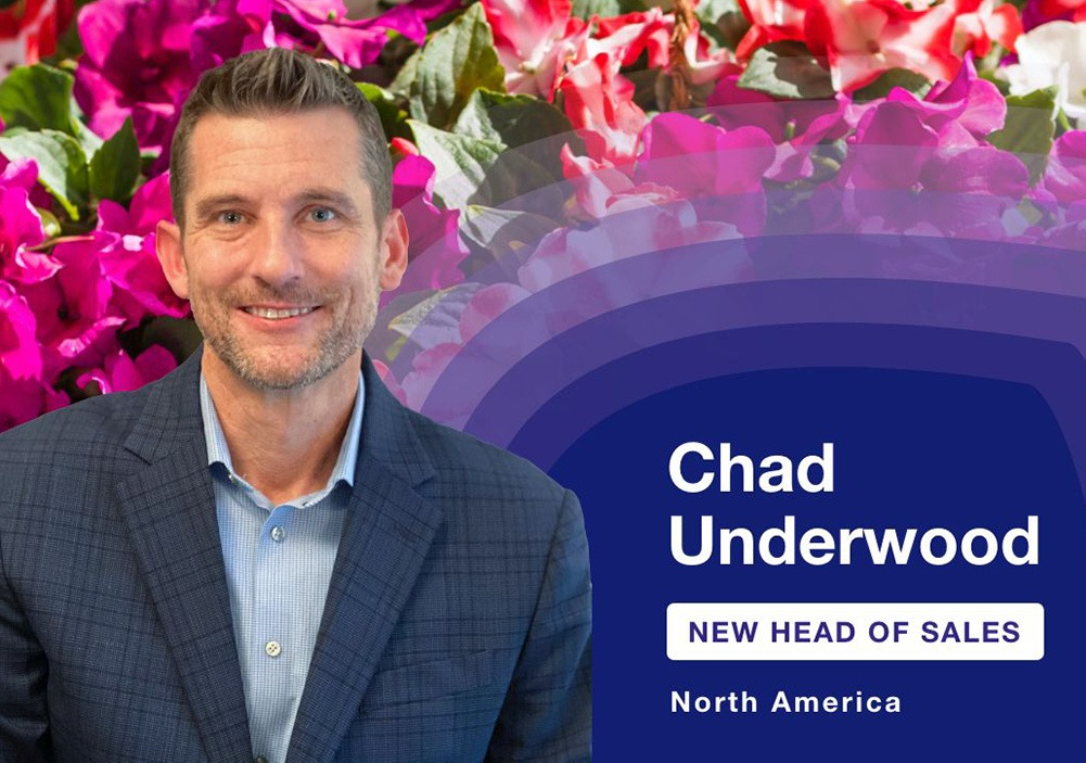 Syngenta Flowers appoints Chad Underwood as Head of Sales for North America.