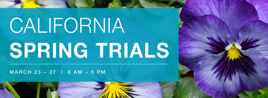 California Spring Trials Banner